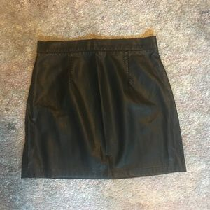 Forever 21 Black Leather Mini Skirt